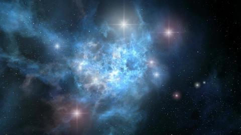 Space Nebula Rotation Animation