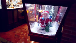 Santa Claus Christmas Snow Globe Footage