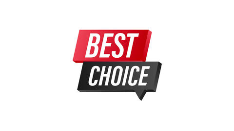 Best choice, red fabric award ribbon After Effects Template