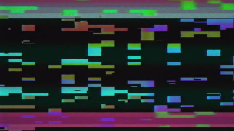 VHS and Glitch effect. Digital pixel color noise VHS effect. The problems of the Live Action