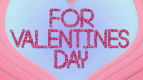 Valentine Hearts Animated Typeface After Effects Template