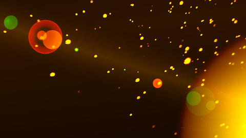 Gold Particles from the Sun Animation