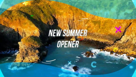 Stylish summer Opener After Effects Template