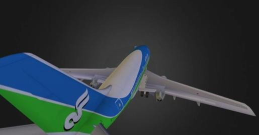 Boeing-737-100 A 3D Model