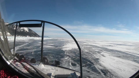 Journey through the frozen Baikal by ship Live Action