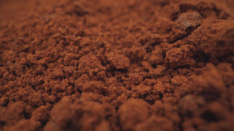 Soluble coffee background close-up. Loose coffee close-up. Loose coffee powder Live Action