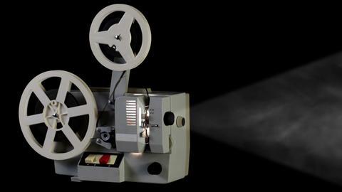Retro cinema projector Stock Video Footage