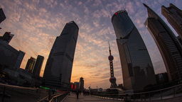Sunset Clouds in Pudong Stock Video Footage