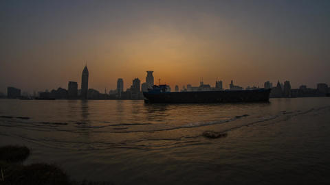 The Bund Day to Night Time Lapse Footage