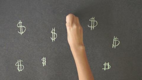 Dollar Sign Illustration Stock Video Footage