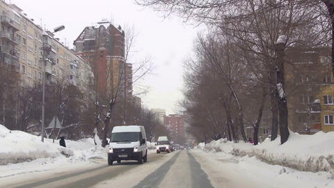 Sreets of Novosibirsk Stock Video Footage