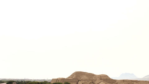 Huaca del Sol and archaeological excavations Stock Video Footage