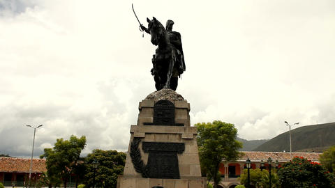 Monument honouring General Sucre Stock Video Footage