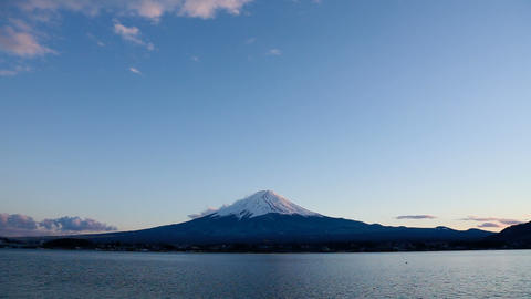 Mt. Fuji at dusk Stock Video Footage