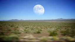 Desert Moon Stock Video Footage