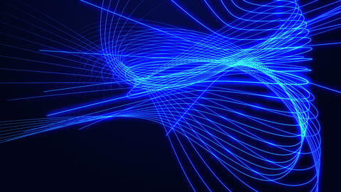 Background Of Abstract Glowing Lines stock footage