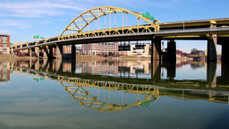 The Fort Duquesne Bridge Stock Video Footage