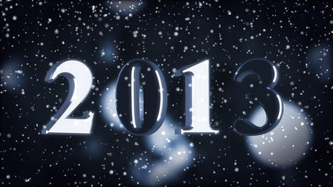 New year 2013 Stock Video Footage