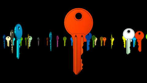 Finding The Right Key stock footage