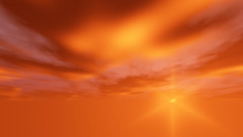 Orange cloudy Stock Video Footage
