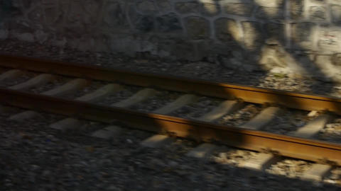 Speeding moving train railway,train travel,scenery... Stock Video Footage