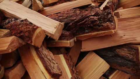 Pile of wood Stock Video Footage