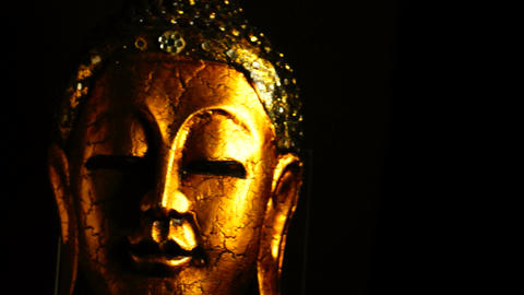 Buddha Sculpture stock footage