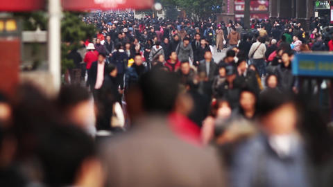 Slow Motion Of Busy Crowds Traffic stock footage