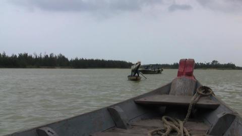Hoi An 117 Vietnamese Fishermen Stock Video Footage