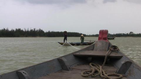 Hoi An 117 Vietnamese Fishermen Footage