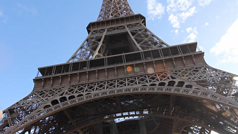Eiffel Tower in Paris Stock Video Footage