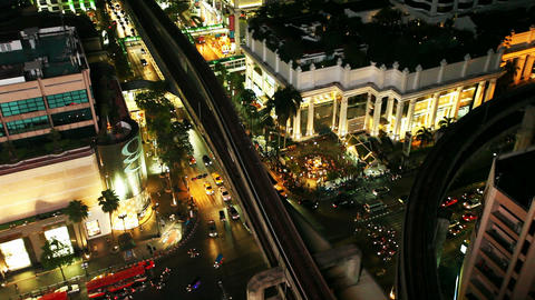 Aerial View of Bangkok Erawan Stock Video Footage