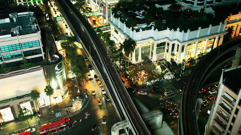 Aerial View of Bangkok Erawan Footage