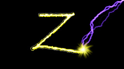 GOLDEN LETTERS (Y,Z,!,?) stock footage