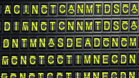 departure board tablo happy birthday Stock Video Footage