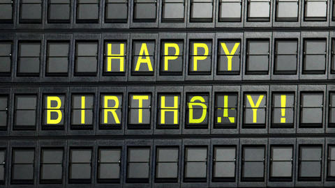 departure board tablo happy birthday Animation