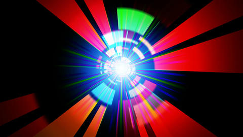 digital colorful rays Stock Video Footage