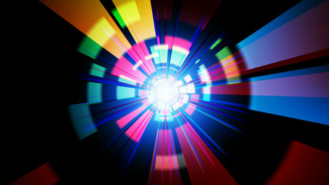 digital colorful rays Animation