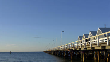 Busselton Jetty in Spring Footage