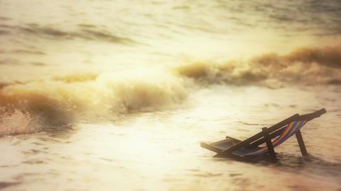 Ocean Chair Stock Video Footage