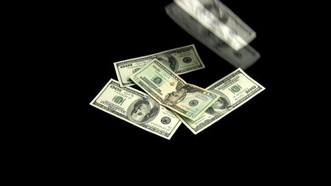 The dollars fall Stock Video Footage