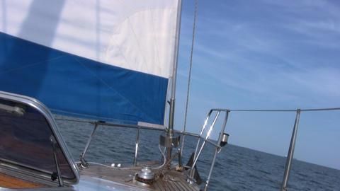 Staysail, sea, sky Stock Video Footage