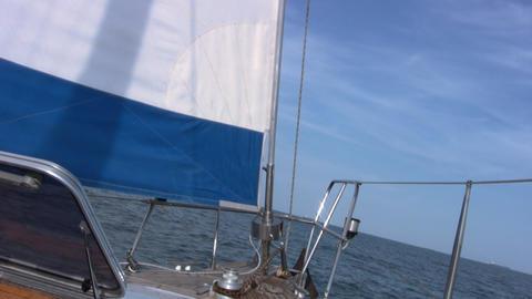 Staysail, sea, sky Footage