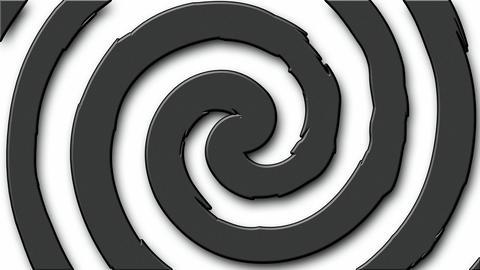Cartoon hypno circle Stock Video Footage