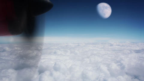 Moon above the clouds Footage