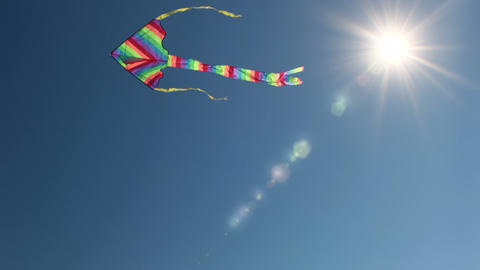 Kite and the sun Stock Video Footage