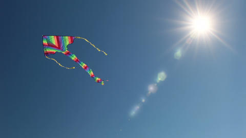 Kite And The Sun stock footage