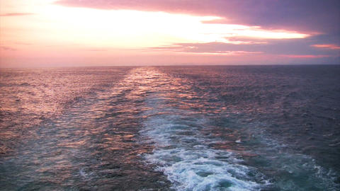 Sunset astern Footage