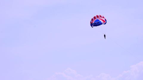 Parasail Landing stock footage