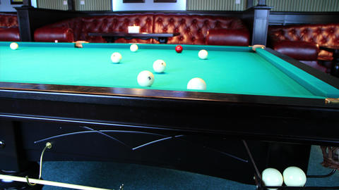 4K. Club For A Game Of Billiards. FULL HD, 4096x2304 Footage